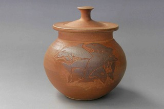 Irish pottery Ash-fired Dolphin Jar made in Co. Cork Ireland