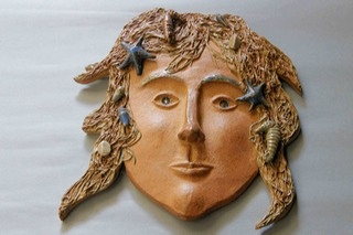 Irish ceramic Mermaid Mask West Cork Ireland